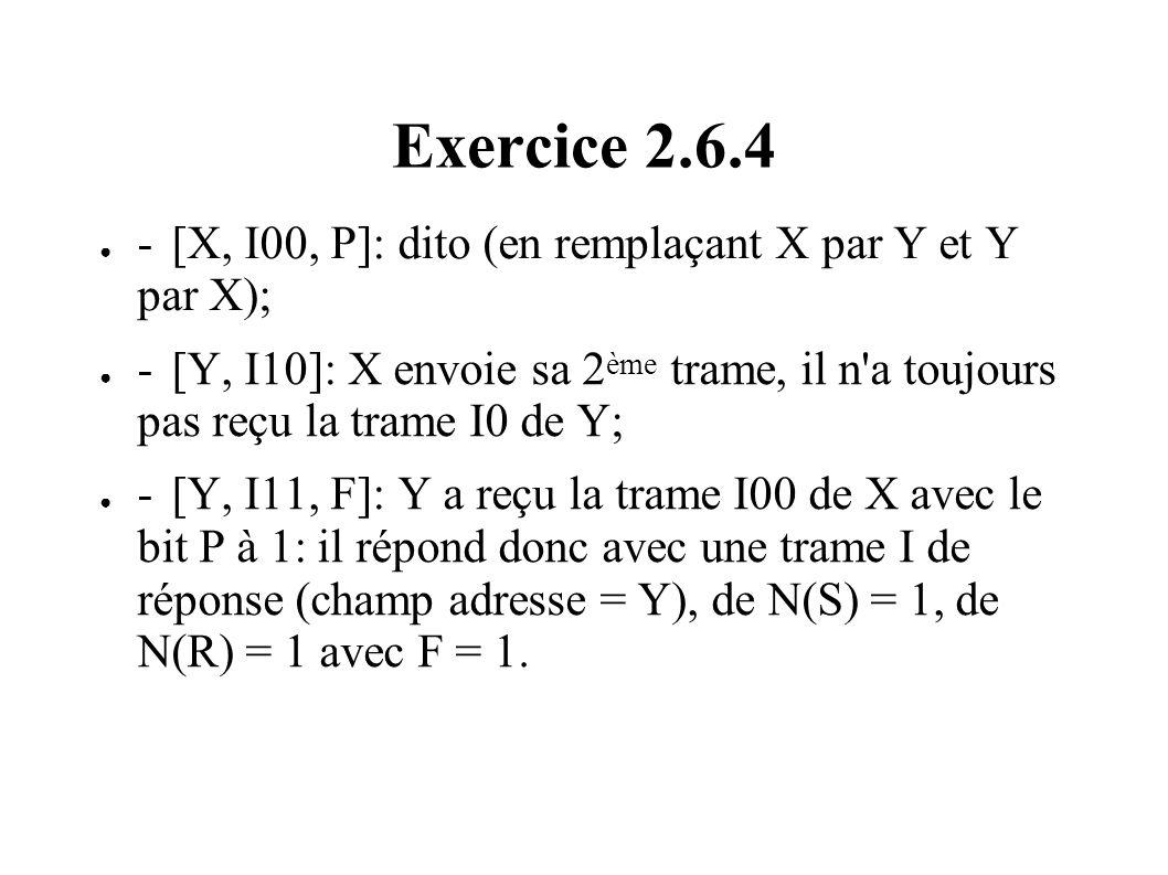 Exercice 2.6.4 - [X, I00, P]: dito (en remplaçant X par Y et Y par X);